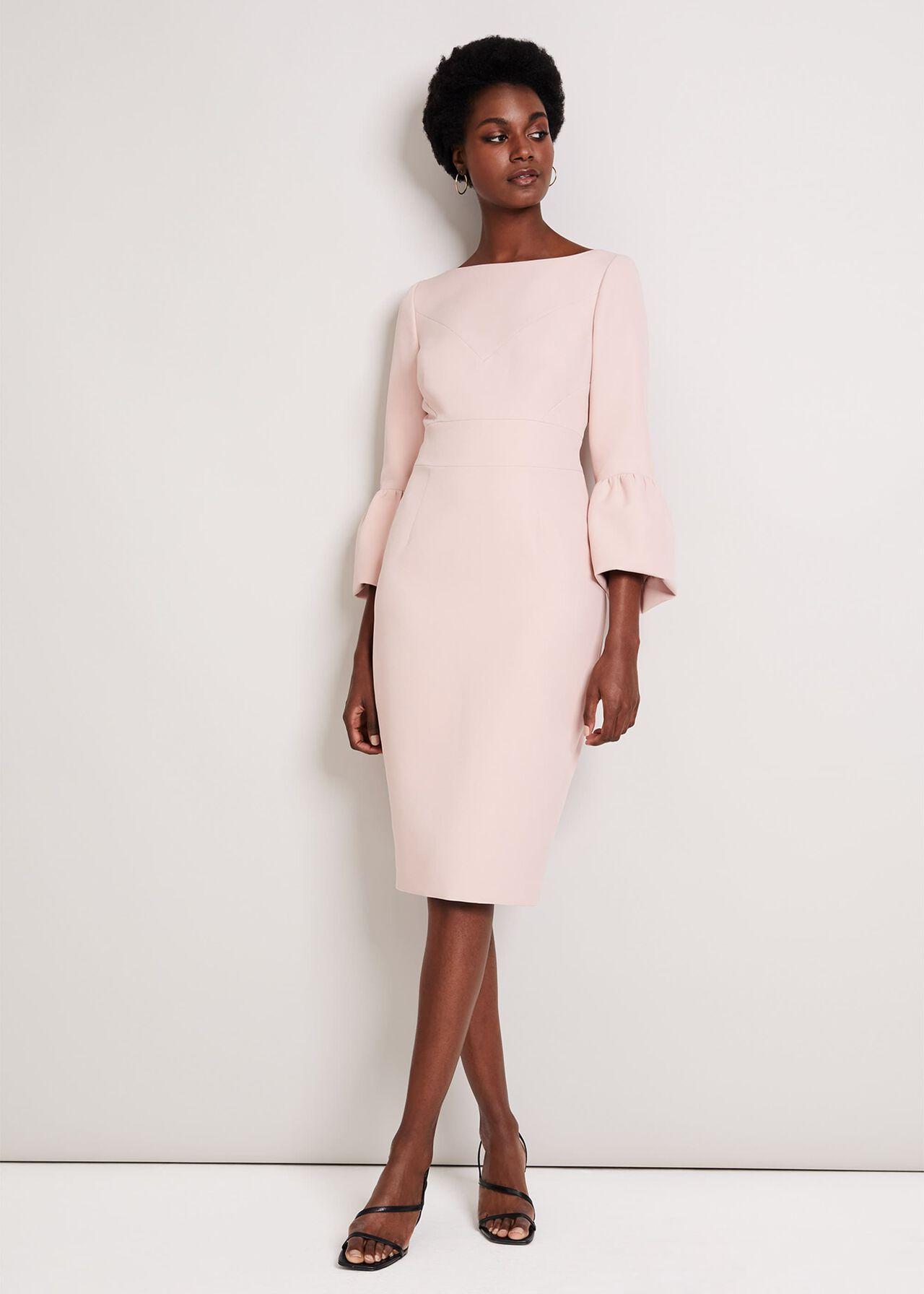 Elin Fluted Sleeve Dress