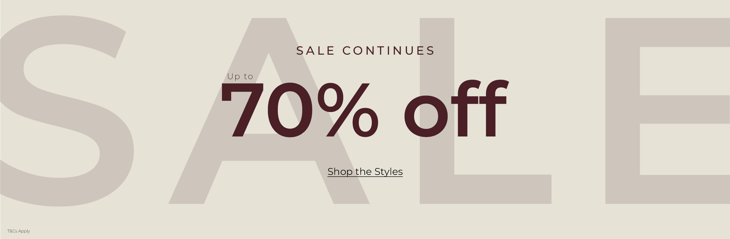 New Lines Added - up to 70% off Sale