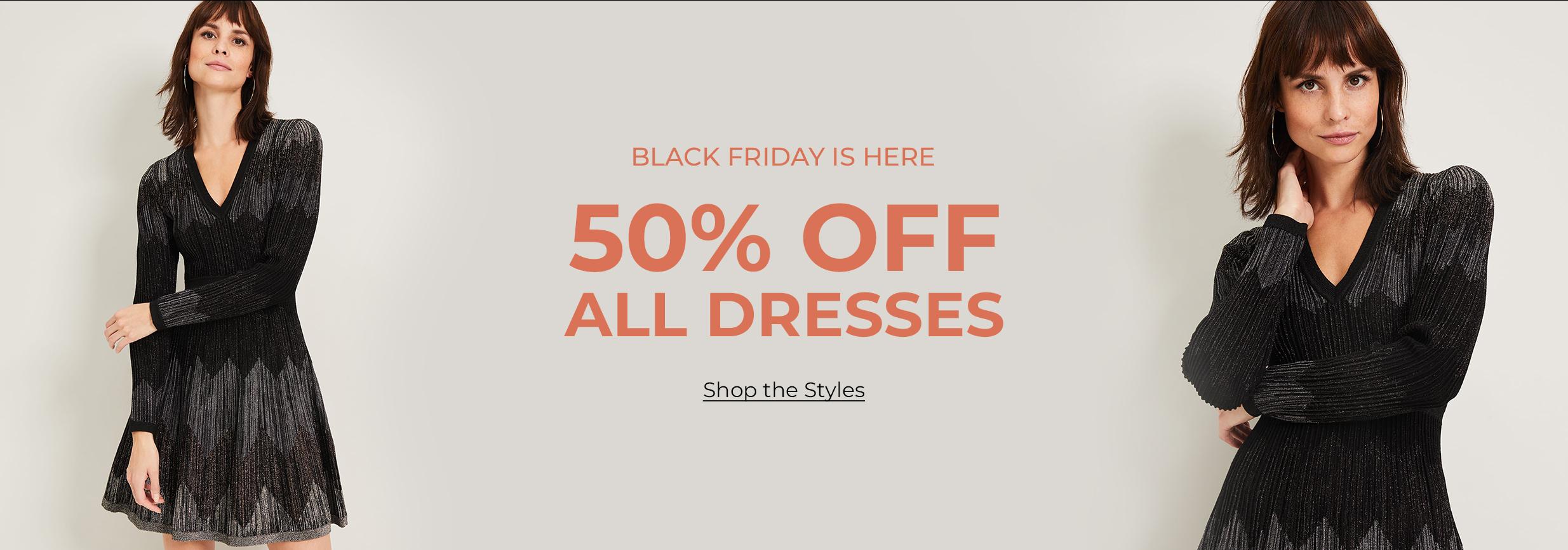 Black Friday - 50% off all dresses